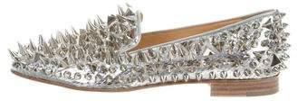 Christian Louboutin Dandy Pik Pik Metallic Loafers