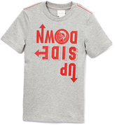 Diesel Gray Melange 'Upside Down' Tee - Boys