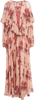 Giambattista Valli Ruffle-trimmed Printed Silk-chiffon Maxi Dress