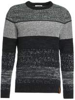 Knowledge Cotton Apparel Jacquard Jumper Total Eclipse