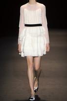 Alberta Ferretti Tiered silk-georgette, cotton-lace and tulle dress