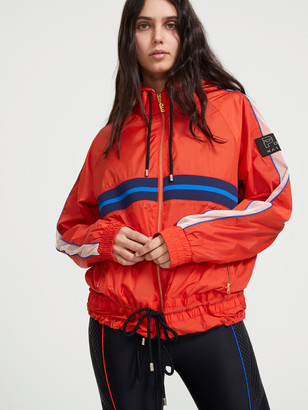 P.E Nation Man Down Hooded Anorak Jacket in Red
