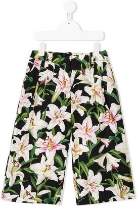 Dolce & Gabbana Lily Print Trousers