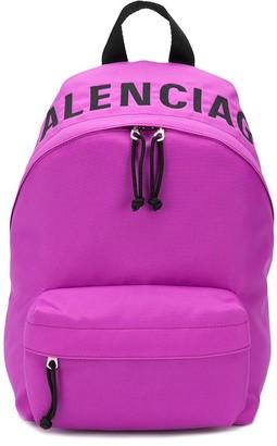 Balenciaga small Wheel logo backpack