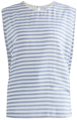 Paisie Brighton Striped Top In Blue & White