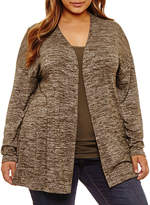 Boutique + + Long Sleeve Cardigan-Plus
