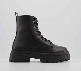 Raid Obey Chunky Lace Boots Black