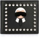 Fendi 'Karlito' billfold wallet - men - Leather/Metal (Other) - One Size