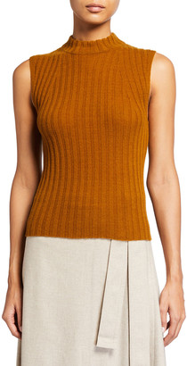 Vince High-Neck Cashmere Shell