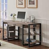 Walker Edison Storage Desk in Driftwood/Black
