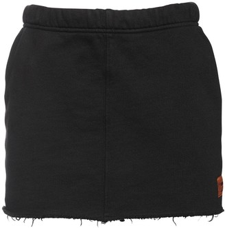 Heron Preston Cotton Mini Sweat Skirt
