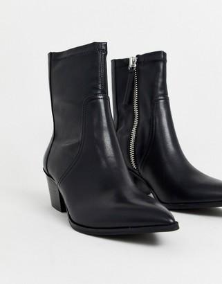 Aldo Batis stretch leather western sock boot