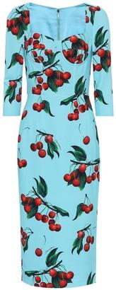 Dolce & Gabbana Exclusive to Mytheresa a cherry printed midi dress