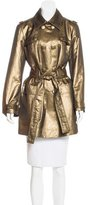 St. John Metallic Double-Breasted Coat w/ Tags