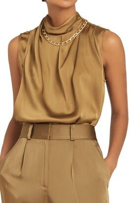 Reiss Freya Chain Detail Sleeveless Top
