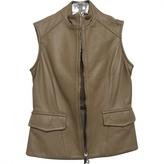 Moncler Beige Leather Jacket