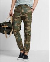 Express utility jogger camo print cotton pant