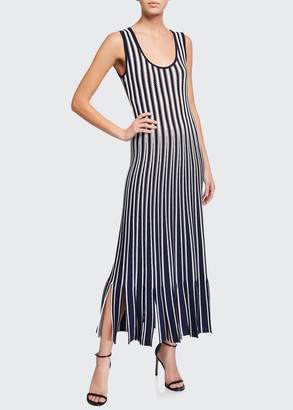 Lela Rose Crocheted Knit Midi Dress