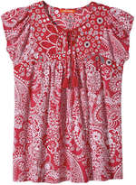 Joe Fresh Women's Mix Print Tee, Red (Size L)