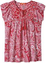 Joe Fresh Women's Mix Print Tee, Red (Size XS)