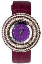 Eton Women's Quartz Watch with Purple Dial Analogue Display and Purple Leather Strap 2980J-PL