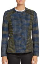 M Missoni Paneled Peplum Cardigan