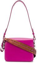 Off-White pink warning tape shoulder bag