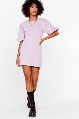 Nasty Gal Womens Love or Sleeve Acid Wash Sweatshirt Dress - Lavender