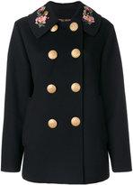 Dolce & Gabbana double breasted military coat - women - Polyester/Spandex/Elastane/Angora/Wool - 42