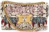 Gucci Embellished water-snake shoulder bag