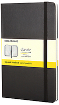 Moleskine Classic Collection Pocket Squared Notebook, Black