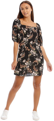 Miss Shop Square Neck Puff Sleeve Dress