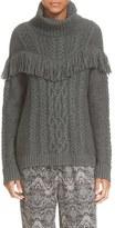 Joie Women's 'Viviam' Fringe Cable Turtleneck Sweater