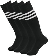 Lucky Commerce Unsiex Youth Over-Knee-High Sock with Stripe,Baseball Rugby Football Soccer Football Red 2 Pairs