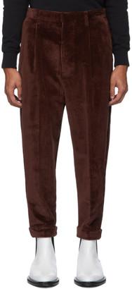Ami Alexandre Mattiussi Brown Oversized Carrot Trousers