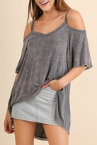 Umgee USA Grey Basic Tunic Top