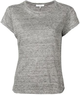 Frame round neck marl T-shirt