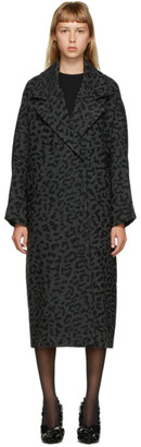Valentino Grey Wool Tweed Animalier Coat