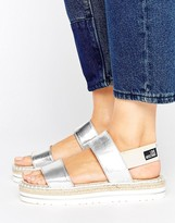 Love Moschino Metallic Sandals