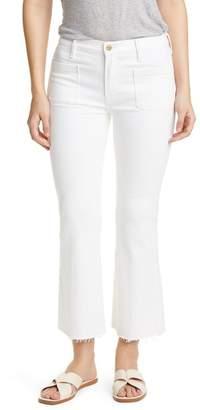 Frame Le Bardot Patch Pocket Crop Flare Jeans