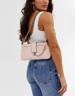 Asos Design DESIGN 90s shoulder bag with padlock chain detail