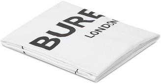 BURBERRY KIDS Logo Print Square Blanket