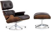 Vitra LCH XL Eames Lounge Chair & Ottoman - Walnut/Chocolate