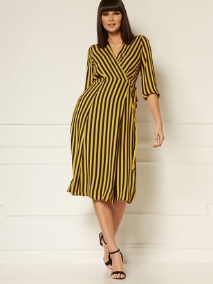 New York & Co. Brenda Stripe Wrap Dress - Eva Mendes Collection