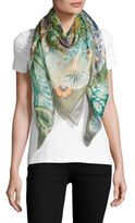 Salvatore Ferragamo Floral Linen & Silk Scarf
