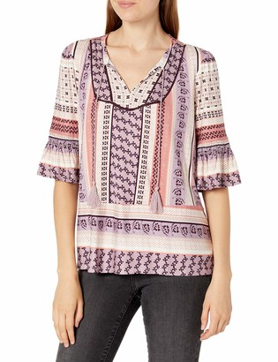 Vintage America Blues Women's Alek Mix Peasant Top