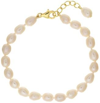 Auree Jewellery Gloucester White Freshwater Pearl & Gold Vermeil Bracelet