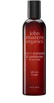 John Masters Organics 2-In-1 Shampoo & Conditioner With Zinc & Sage 236Ml