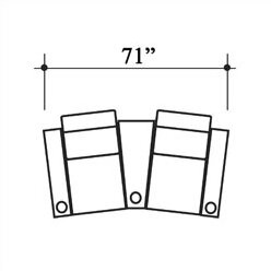Bass Penthouse Leather Home Theater Row Seating (Row of 2
