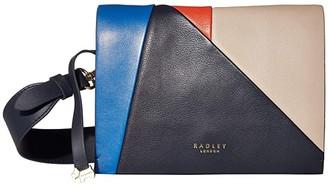 Radley London Haven Street Patchwork - Medium Flapover Crossbody (Ink) Handbags